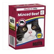 BOZITA консервы для кошек кусочки в желе рубленая говядина