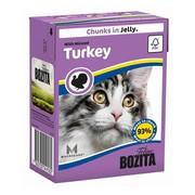 BOZITA консервы для кошек кусочки в желе рубленая индейка