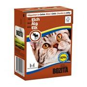 BOZITA консервы для кошек кусочки в желе с лосем