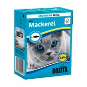 BOZITA консервы для кошек кусочки в желе со скумбрией