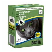 BOZITA консервы для кошек кусочки в соусе кролик