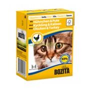 BOZITA консервы для кошек кусочки в соусе курица и индейка