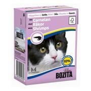 BOZITA консервы для кошек кусочки в соусе с креветками