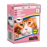 BOZITA консервы для кошек кусочки в соусе с лососем