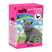 BOZITA Mini консервы для котят кусочки в желе с курицей