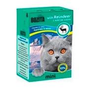 BOZITA Mini консервы для кошек кусочки в желе с мясом оленя