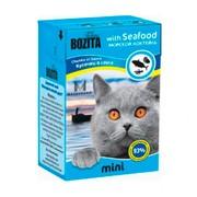 BOZITA Mini консервы для кошек кусочки в соусе морской коктейль