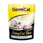 GimCat паучи ShinyCat Filet для кошек тунец с крабом