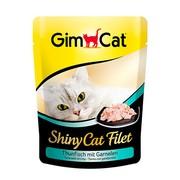 GimCat паучи ShinyCat Filet для кошек тунец с креветками