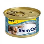 Gimpet ShinyCat консервы для кошек с тунцом и креветками