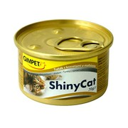 Gimpet ShinyCat консервы для кошек тунец, креветки и солодом