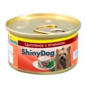 Gimpet ShinyDog консервы для собак цыпленок с ягненком