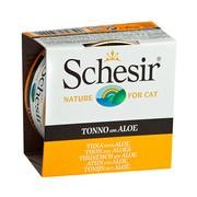 Schesir консервы для кошек тунец/алое