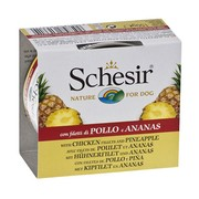 Schesir консервы для собак цыпленок /ананас