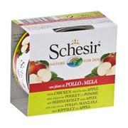 Schesir консервы для собак цыпленок /яблоко