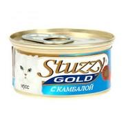 Stuzzy Gold консервы для кошек мусс, камбала