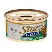 Stuzzy Gold консервы для кошек сардины с кальмарами в собственном соку