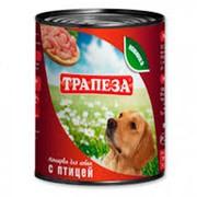 Трапеза консервы для собак с птицей