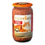 Puffins консервы для кошек говядина/печень