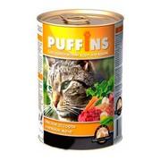 Puffins консервы для кошек мясное ассорти в желе