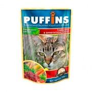 Puffins пауч для кошек говядина в желе