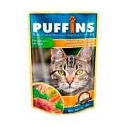 Puffins пауч для кошек мясное ассорти в желе