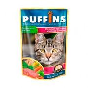 Puffins пауч для кошек ягненок в желе