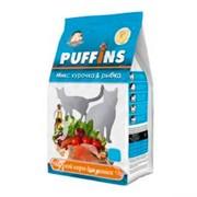 Puffins сухой корм для кошек курочка и рыбка