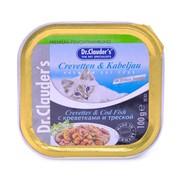 Dr.Clauder's консервы для кошек креветки/треска