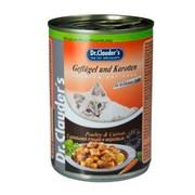 Dr.Clauder's консервы для кошек кусочки в соусе домашняя птица с морковью
