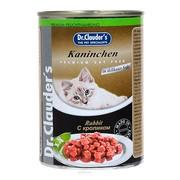 Dr.Clauder's консервы для кошек кусочки в соусе кролик