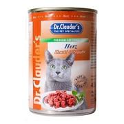 Dr.Clauder's консервы для кошек кусочки в соусе сердце