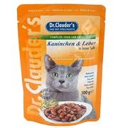 Dr.Clauder's консервы для кошек пауч кролик/печень