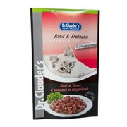 Dr.Clauder's консервы для кошек пауч мясо/индейка кусочки в желе