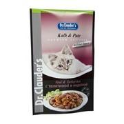 Dr.Clauder's консервы для кошек пауч телятина/индейка кусочки в соусе