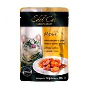 Edel Cat пауч для кошек нежные кусочки курица/утка в желе