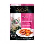 Edel Cat пауч для кошек нежные кусочки лосось/камбала в желе