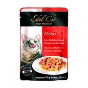 Edel Cat пауч для кошек нежные кусочки печень/кролик в соусе