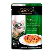 Edel Cat пауч для кошек нежные кусочки утка/кролик в соусе