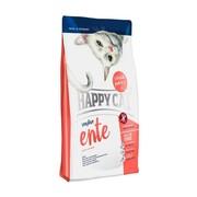 Happy Cat гиппоаллергенный корм для кошек на основе утки, картофеля, риса и клюквы