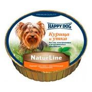 Happy Dog консервы для собак паштет курица/утка