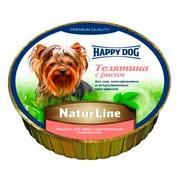 Happy Dog консервы для собак паштет телятина с рисом