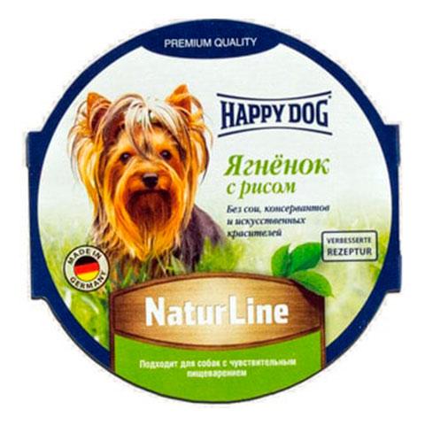 Happy Dog консервы для собак паштет ягненок с рисом
