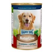 Happy Dog консервы для собак телятина/сердце