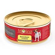 Molina консервы для собак цыпленок в желе