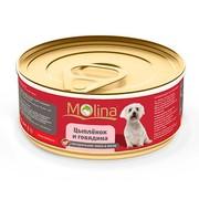 Molina консервы для собак цыпленок с говядиной в желе
