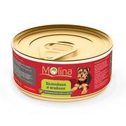 Molina консервы для собак цыпленок с ягненком в желе