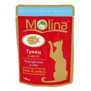 Molina пауч для кошек тунец в желе