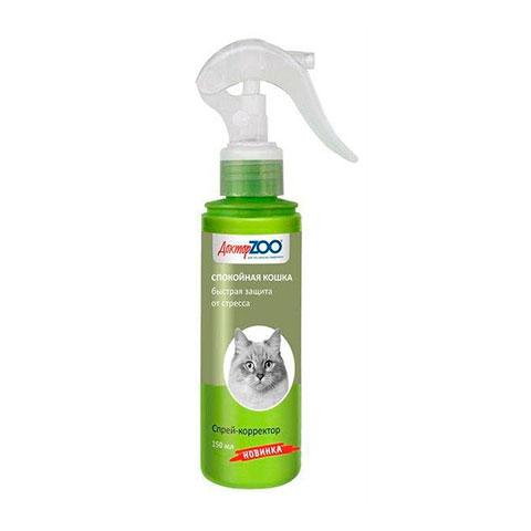 Доктор ZOO спрей для котят и кошек спокойная кошка (защита от стресса)