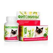 Фитомины для кошек удаление шерсти из желудка
